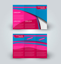 Brochure mock up design template tri-fold vector