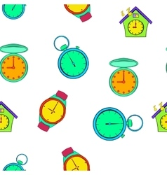 Chronometer pattern cartoon style vector image