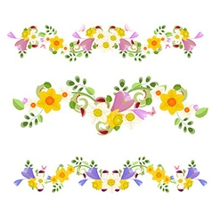 collection banners spring flowers for your design vector image