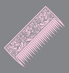 comb icon comb silhouette simple icon web site vector image vector image