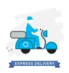 Express delivery symbols scooter delivery vector