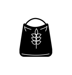 flour icon black sign on vector image vector image