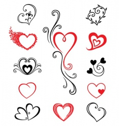 hearts tattoo vector image