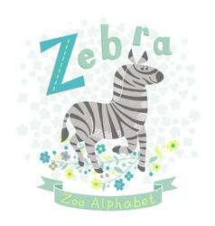 Letter Z - Zebra vector image