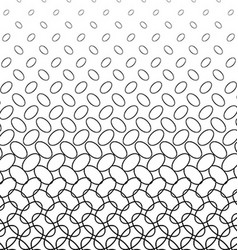 Monochrome diagonal ellipse ring pattern design vector