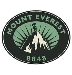 Mount everest emblem vector