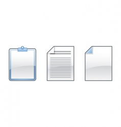 office icons collection vector image