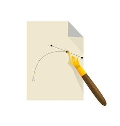 Pen tool vector