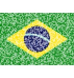 Pixel brazil flag vector