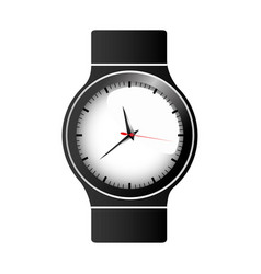Realistic graphic of male wristwatch vector
