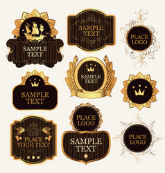set of ornate label templates in the baroque style vector image vector image