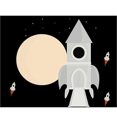 Spaceship in space vector