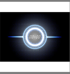 Technological abstract modern blue light clock vector
