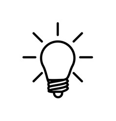 thin line light bulb idea icon vector image vector image