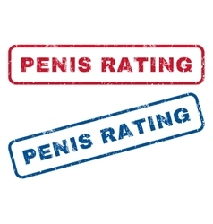 Penis rating rubber stamps vector