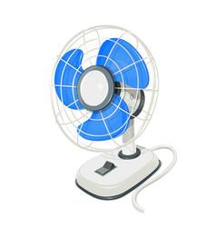 desk air electric fan vector image