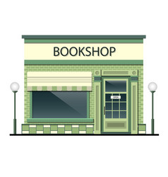 Facade of the building with bookshop vector