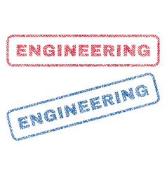 Engineering textile stamps vector