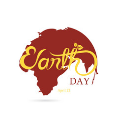 Globe sign and green earth day typographical vector