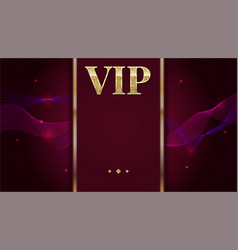 Vip premium invitation card poster or flyer for vector