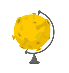 Moon school globe planet geographical sphere vector