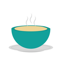 kitchen vessel with soup vector image