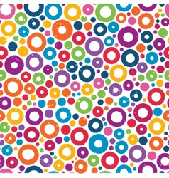 Colorful seamless pattern with hand drawn circles vector image