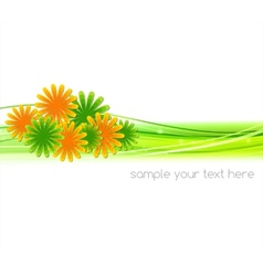 Abstract background with summer flower vector image