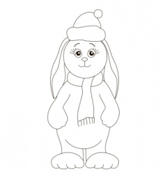 Santa Claus rabbit vector image