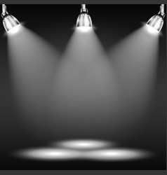 Illuminated Floor In Dark Room vector image