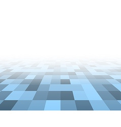 Perspective blue checkered surface vector