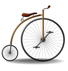 Retro bike vector