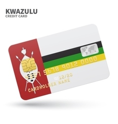 Credit card with kwazulu flag background for bank vector