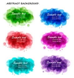 Collection of colorful abstract backgrounds vector