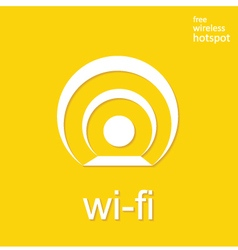 Wireless and wifi icon or sign for remote internet vector