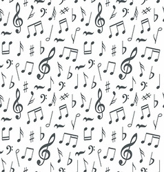 Musical notes seamless pattern background vector