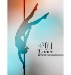 Pole dance vector