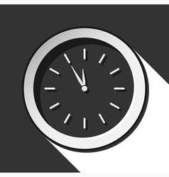 Icon - last minute clock with shadow vector