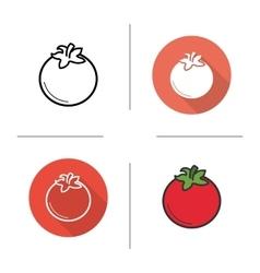 Tomato icons vector