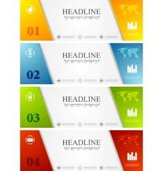 Abstract bright corporate banners vector
