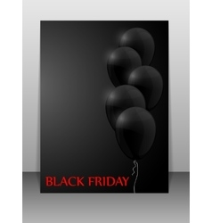 Black friday sale card with balloons vector