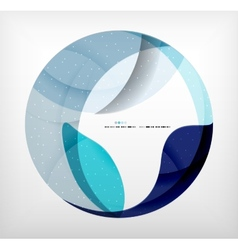 Blue corporate abstract shapes modern brochure vector
