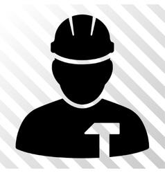 Builder person icon vector