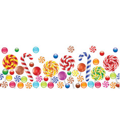 Candies background vector image