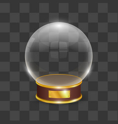 Celebration snow globe object on a transparent vector