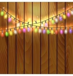 Christmas and New Year design on wooden background vector image vector image