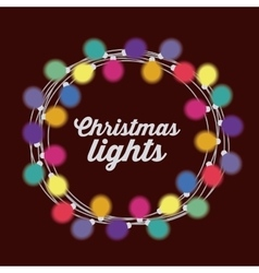 Christmas lights design vector