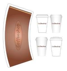 coffee paper cup mock-up layout vector image