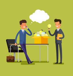 Concept of idea cartoon businessman vector