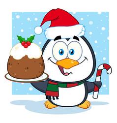 cute penguin cartoon character vector image vector image